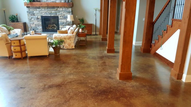 concrete flooring polished finish