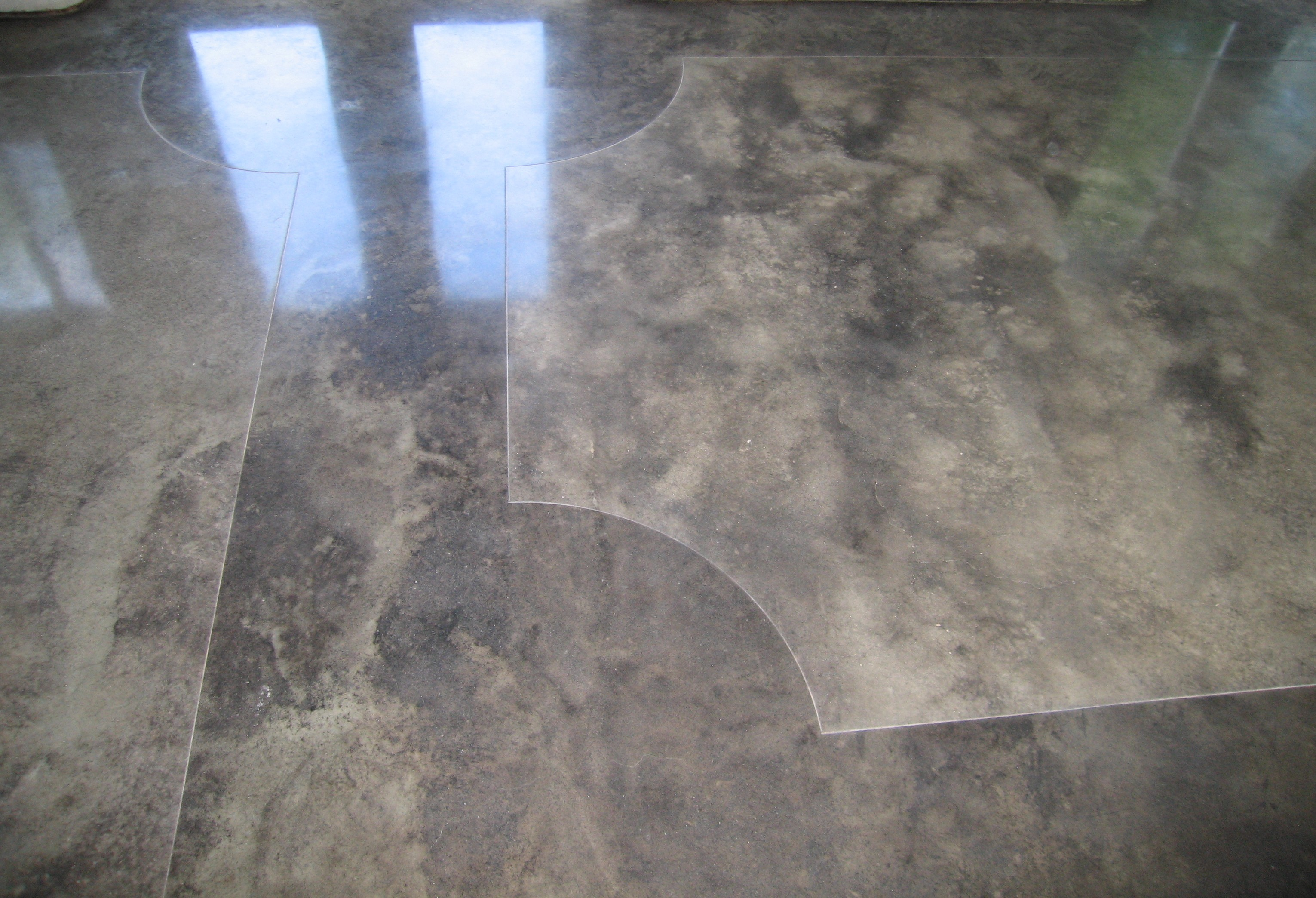 Beautiful Acid Stained Polished Concrete