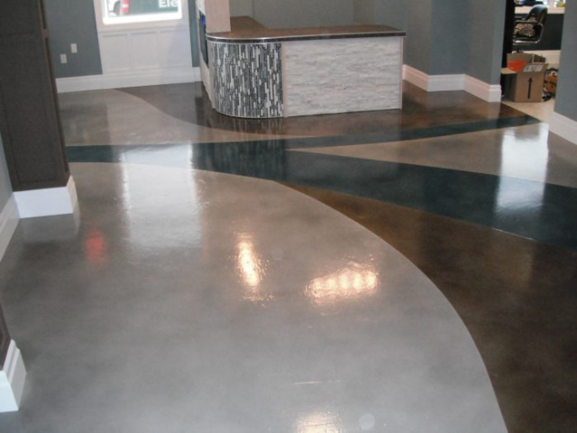 Commercial Concrete Floors with Decorative Toppings