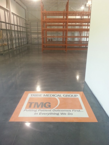 Concrete flooring with Decorative Toppings