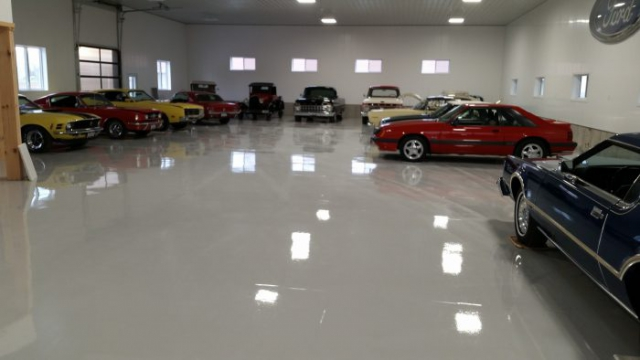 specialty garage concrete flooring