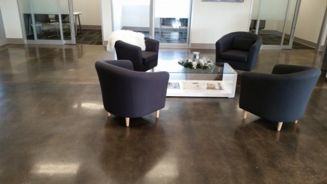 office polished concrete floors