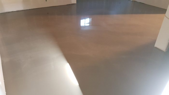 repaired polished concrete floors