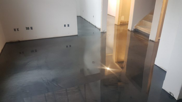 New Metallic Epoxy Concrete Flooring