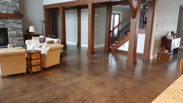Durable Acid Stained Concrete floors