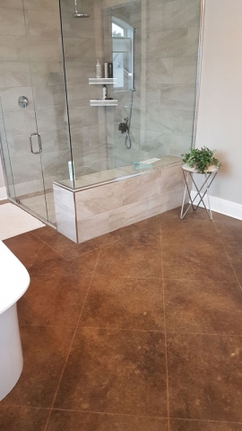 acid stained Polished Concrete