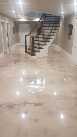 Residential Metallic Epoxy Flooring