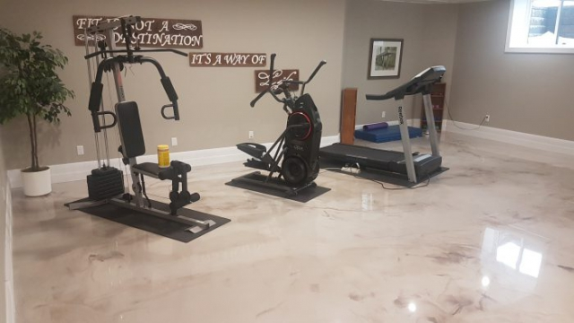 workout room Metallic Epoxy concrete Flooring