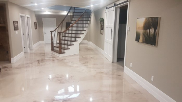 Beautiful Residential Metallic Epoxy Flooring