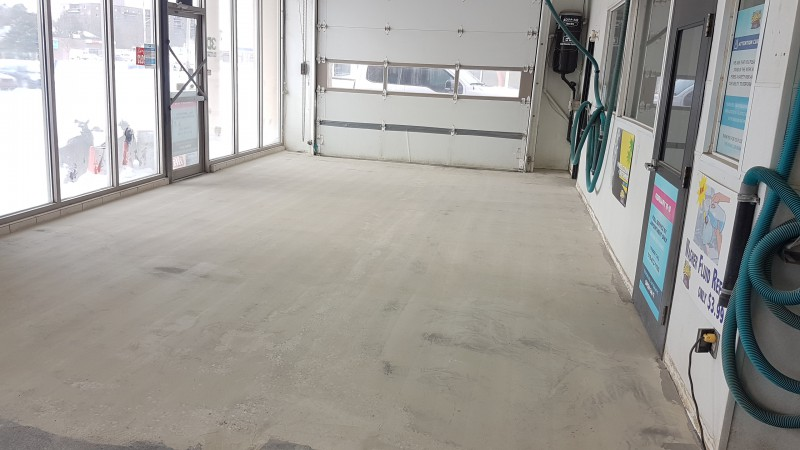 Concrete Flooring Car Wash Before