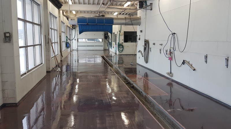 Polished Concrete Car Wash Flooring