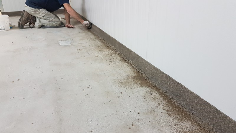 Concrete flooring preparation