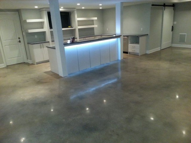 Acid Stained Polished Concrete Kitchen