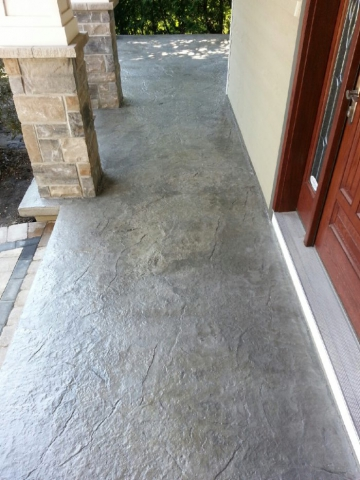 Outdoor Concrete Porch with Decorative topping
