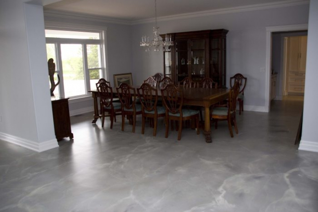 Beautiful Residential Concrete Flooring