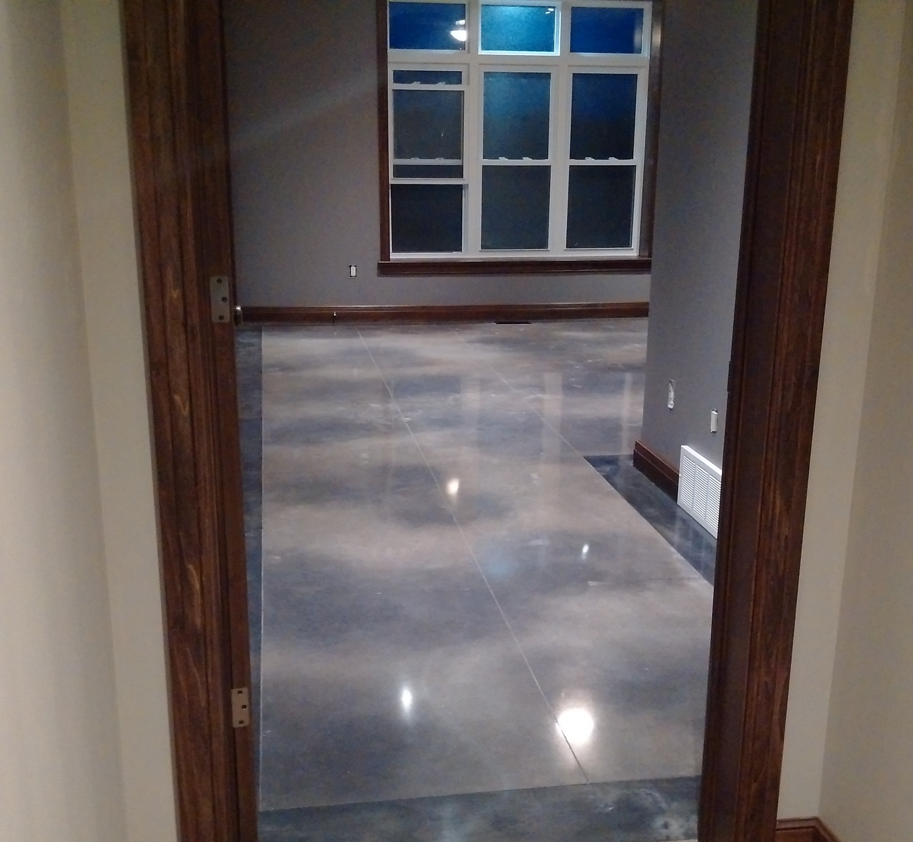 Beautiful Acid Stained concrete flooring