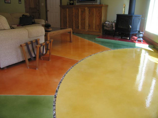 Beautiful Residential Concrete Floors with Decorative Toppings