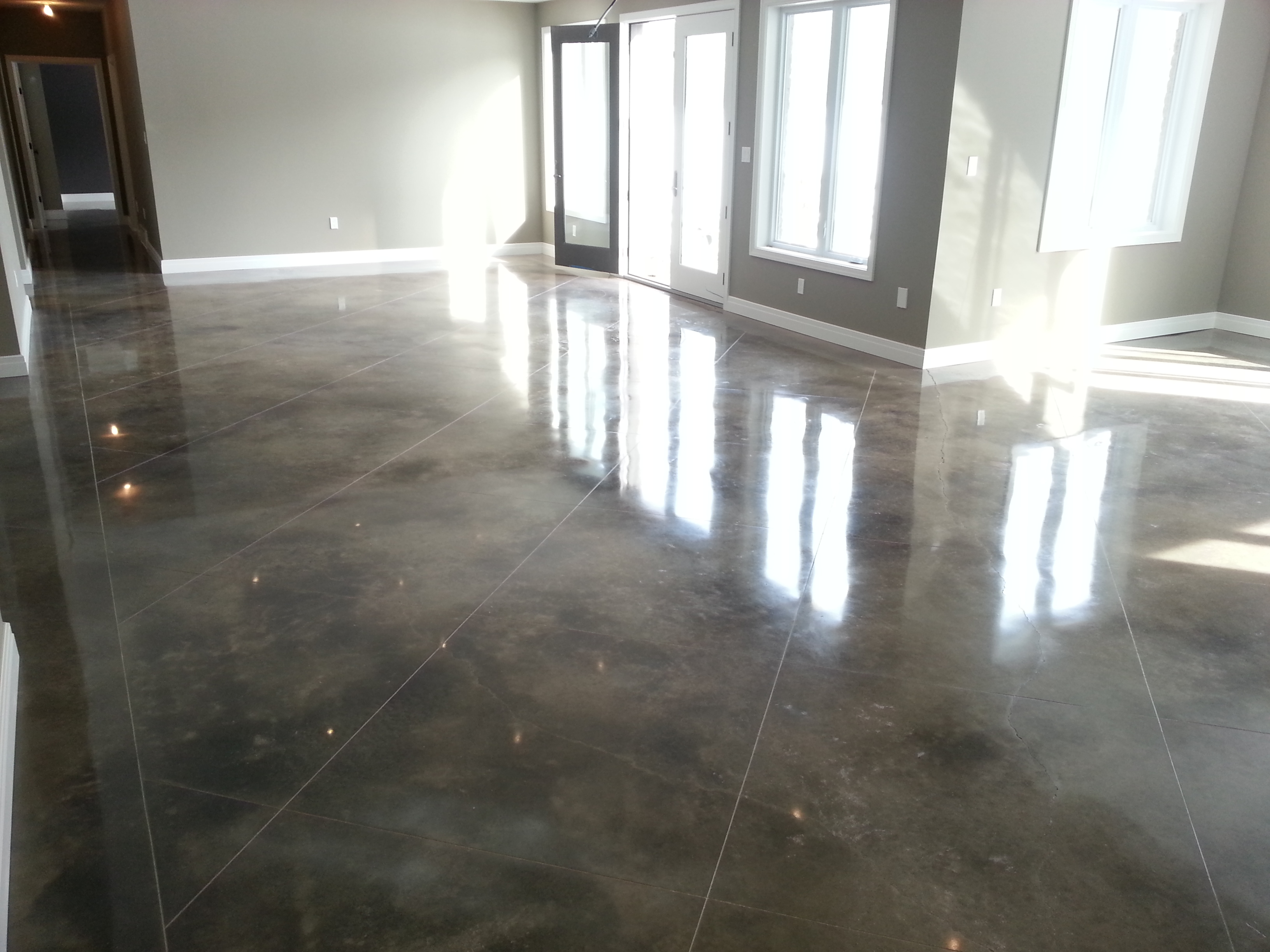 new Acid Stained floors