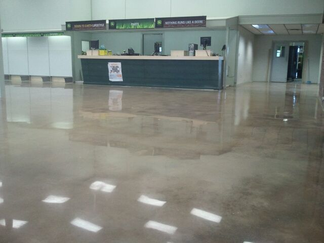 Polished industrial concrete floors