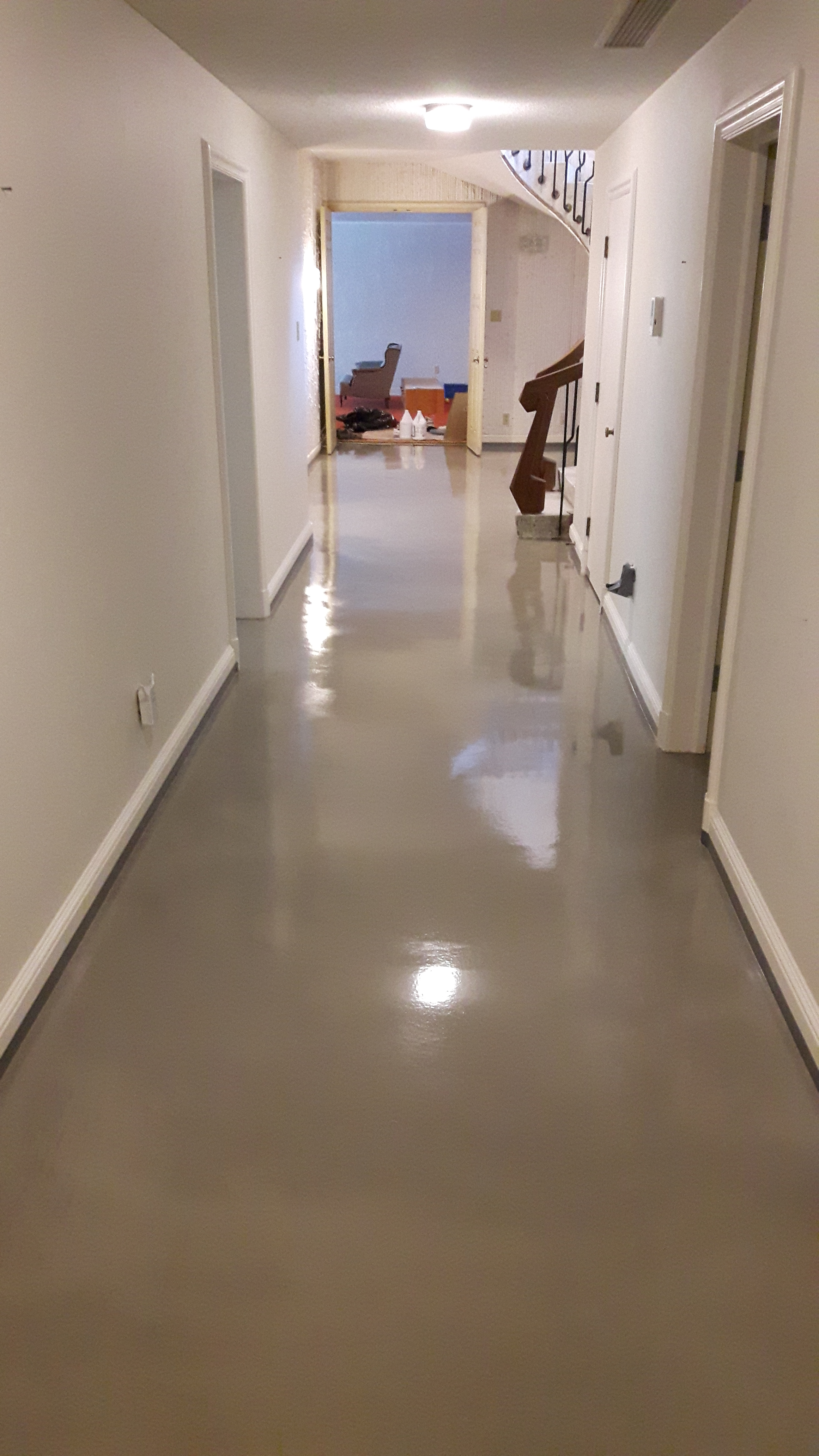 Residential Concrete Floors with Decorative Toppings
