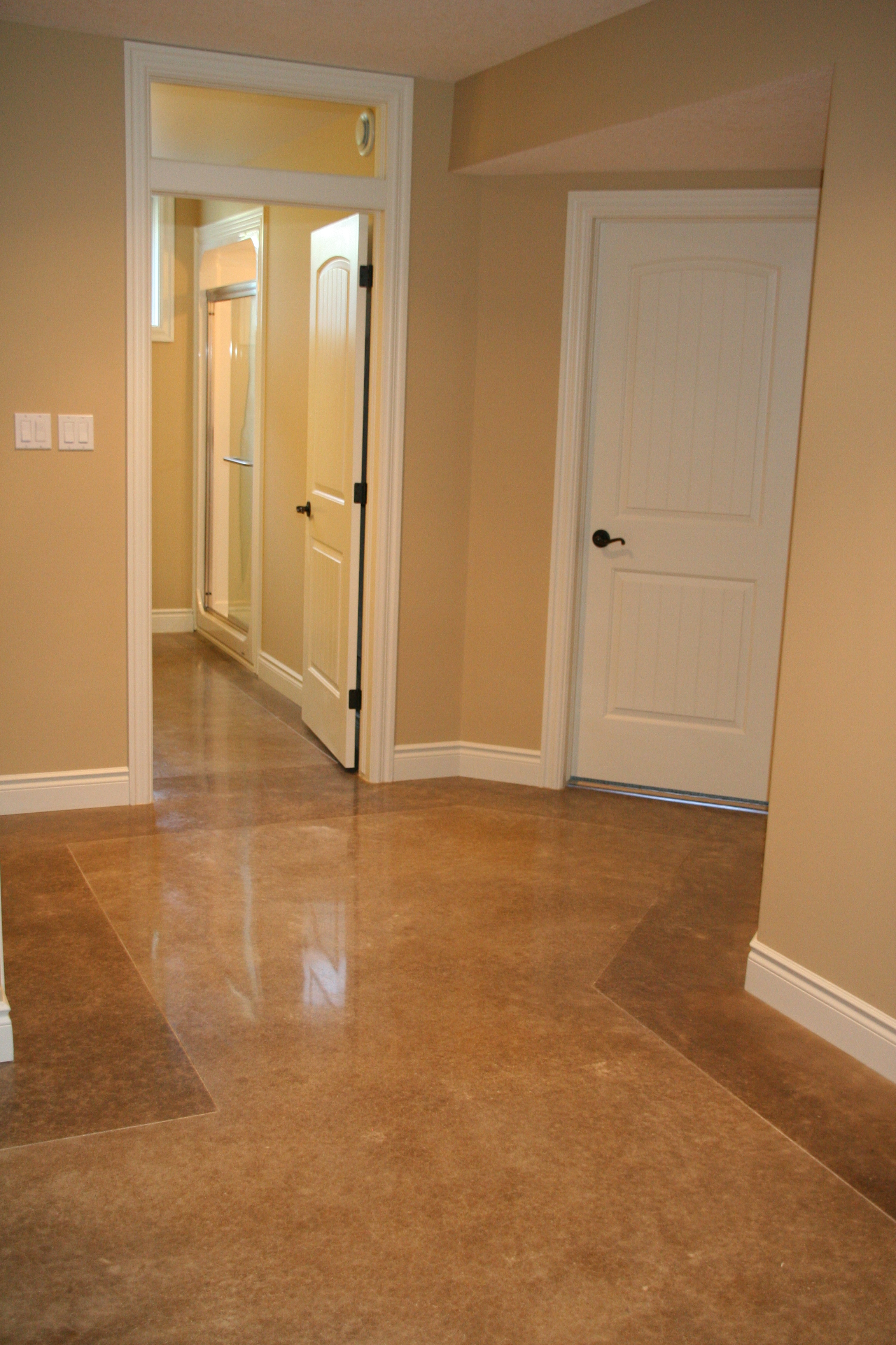 Acid Stained Concrete with Darker Border