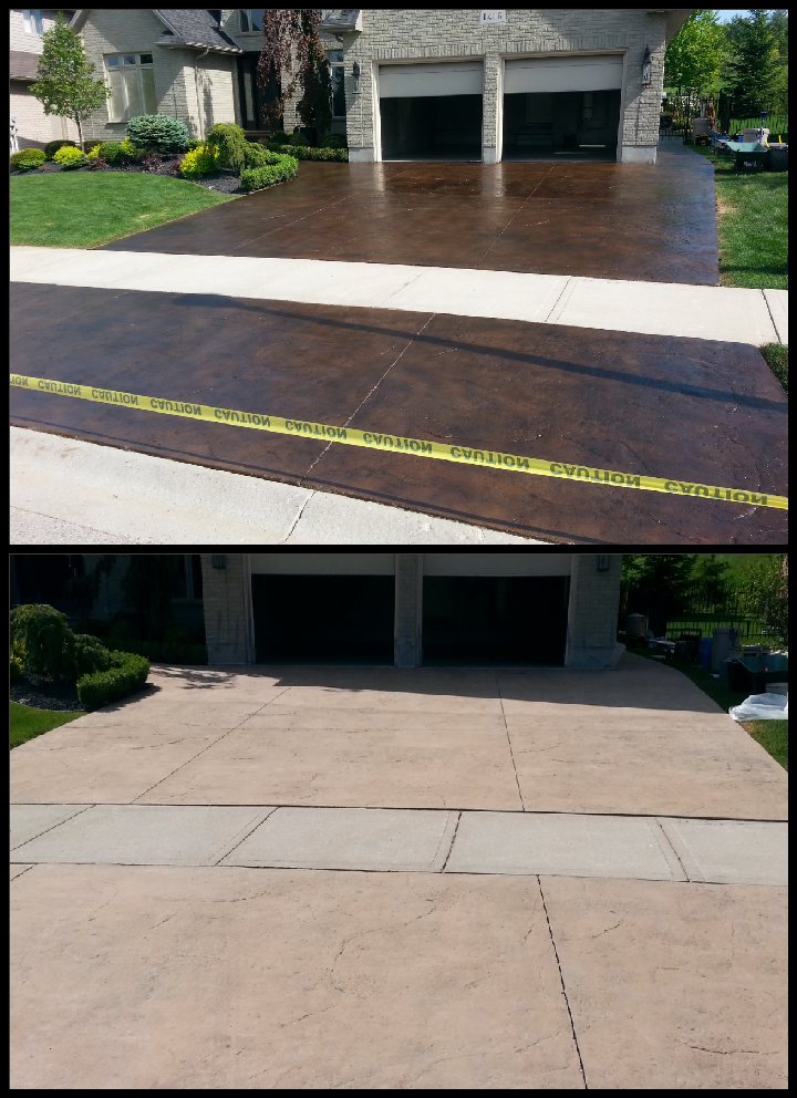 Easy to maintain concrete driveway