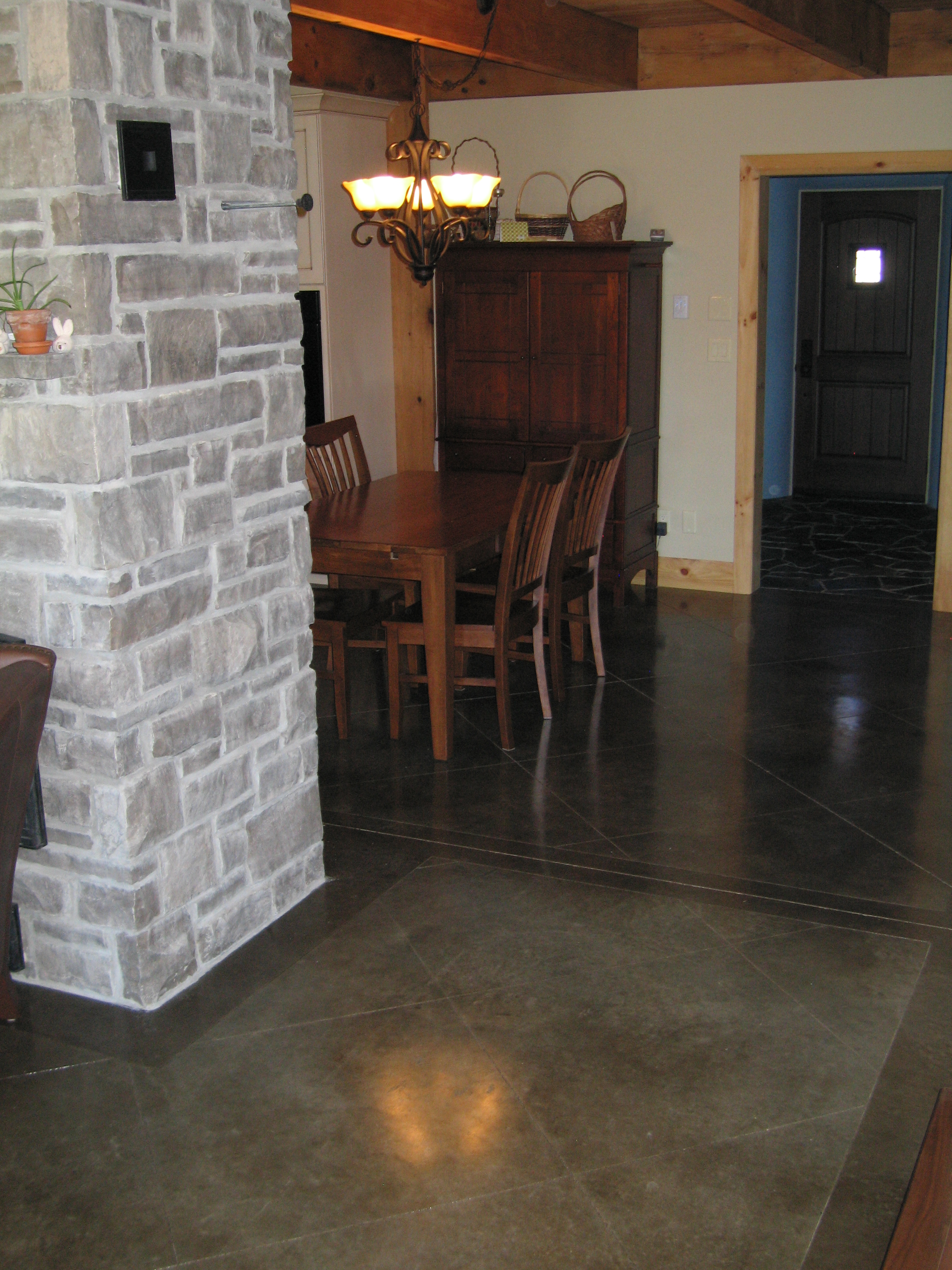 Darker Acid Stained Concrete with Border
