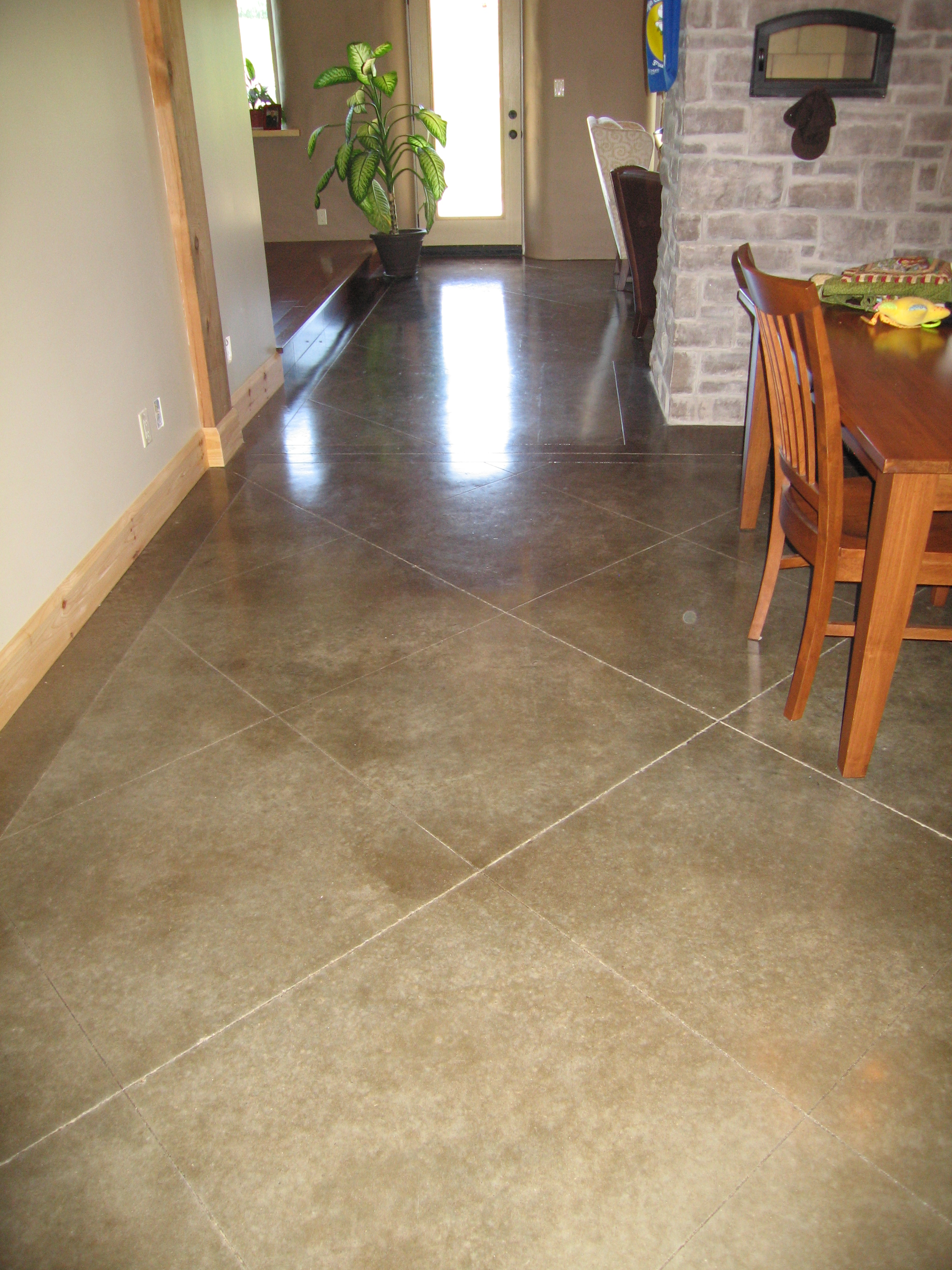 Acid Stained Concrete with Border