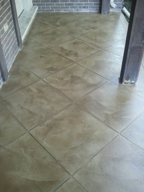 Concrete flooring - Slate Trowell Finish