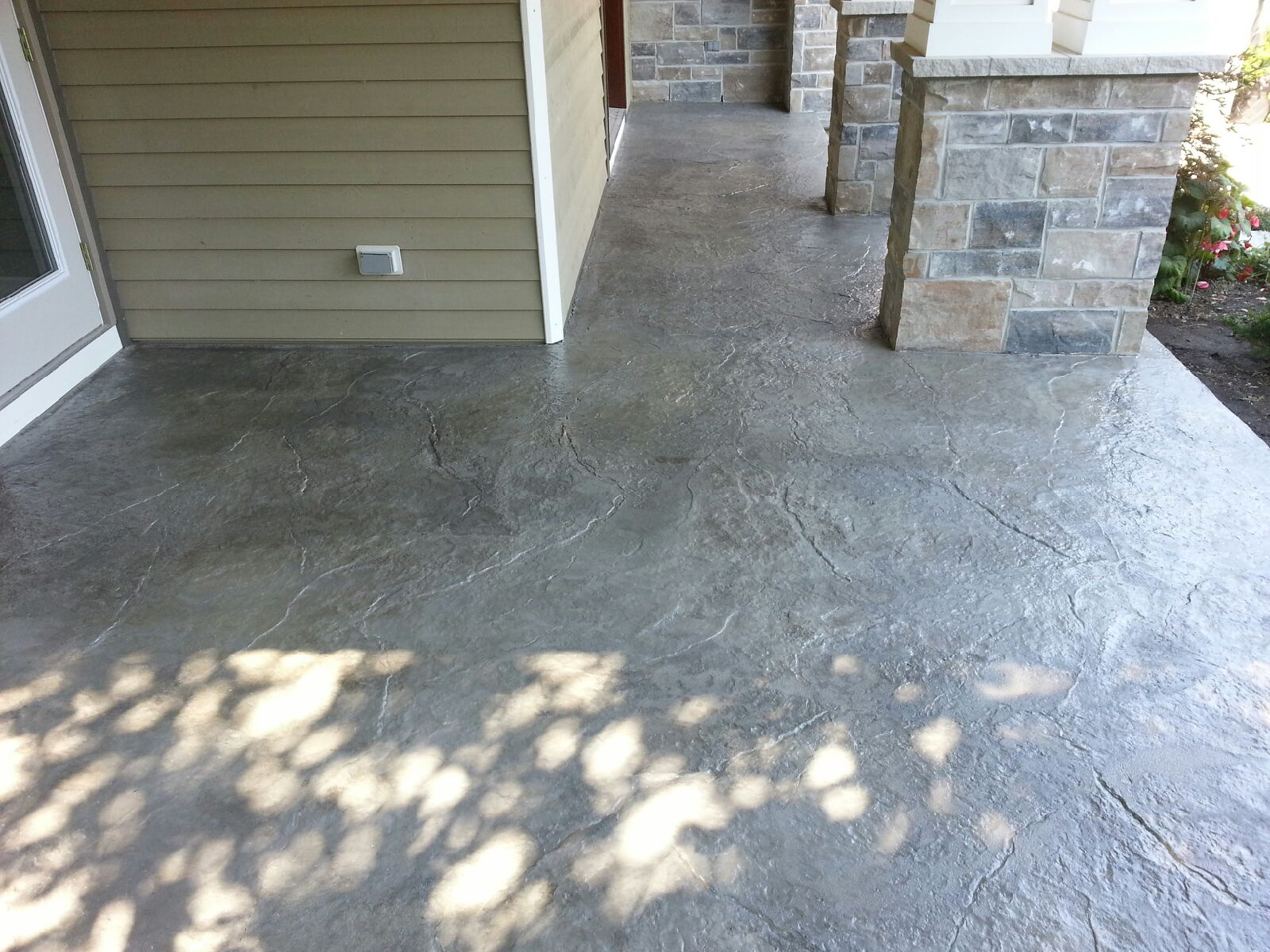 Durable Concrete porch Stamped Overlay