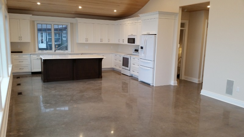 residential polished concrete flooring