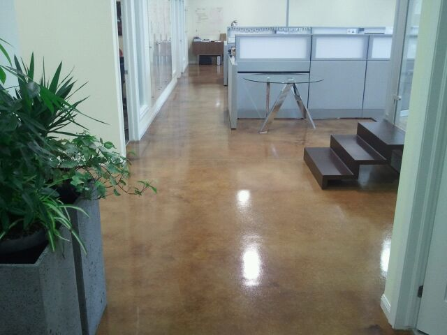 Commercial Acid Stained Concrete flooring