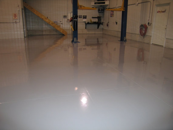 Shiny Coatings on a Garage Floor